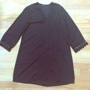 Black crochet beach cover up